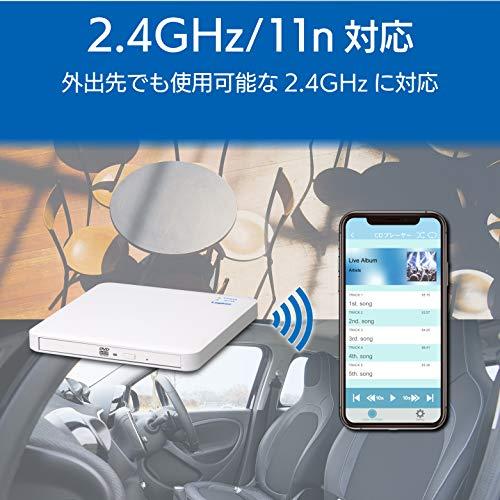 『ロジテック 音楽CD取り込みドライブ WiFi 2.4Ghz対応 11n iOS/Android対応 USB2.0 ホワイト LDR-PS24GWU3RWH』の2枚目の画像