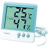 SATO デジタル温湿度計 PC-5000TRH-II 【室内・室外温度を測定】 1050-00