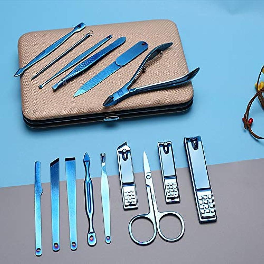 ホップ下向き衣類マニキュアセット ネイルシザーズセットハイグレードマニキュア15ピースセットネイルビューティーセットネイルクリッパーセット トラベル&グルーミングキット