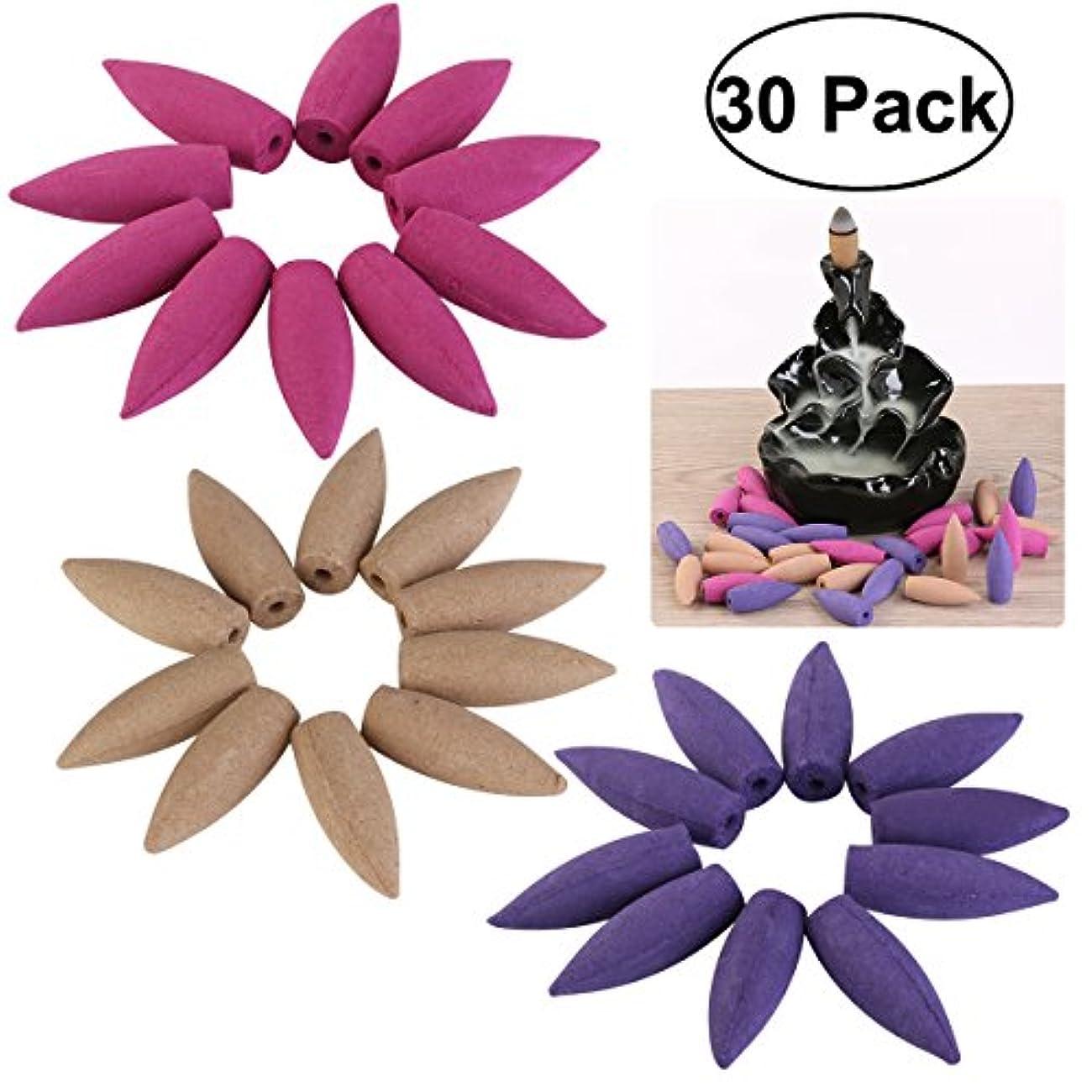 熟した集中ピューHEALIFTY 30個のバックフロー香コーンバレット香コーンローズラベンダーサンデルウッド香