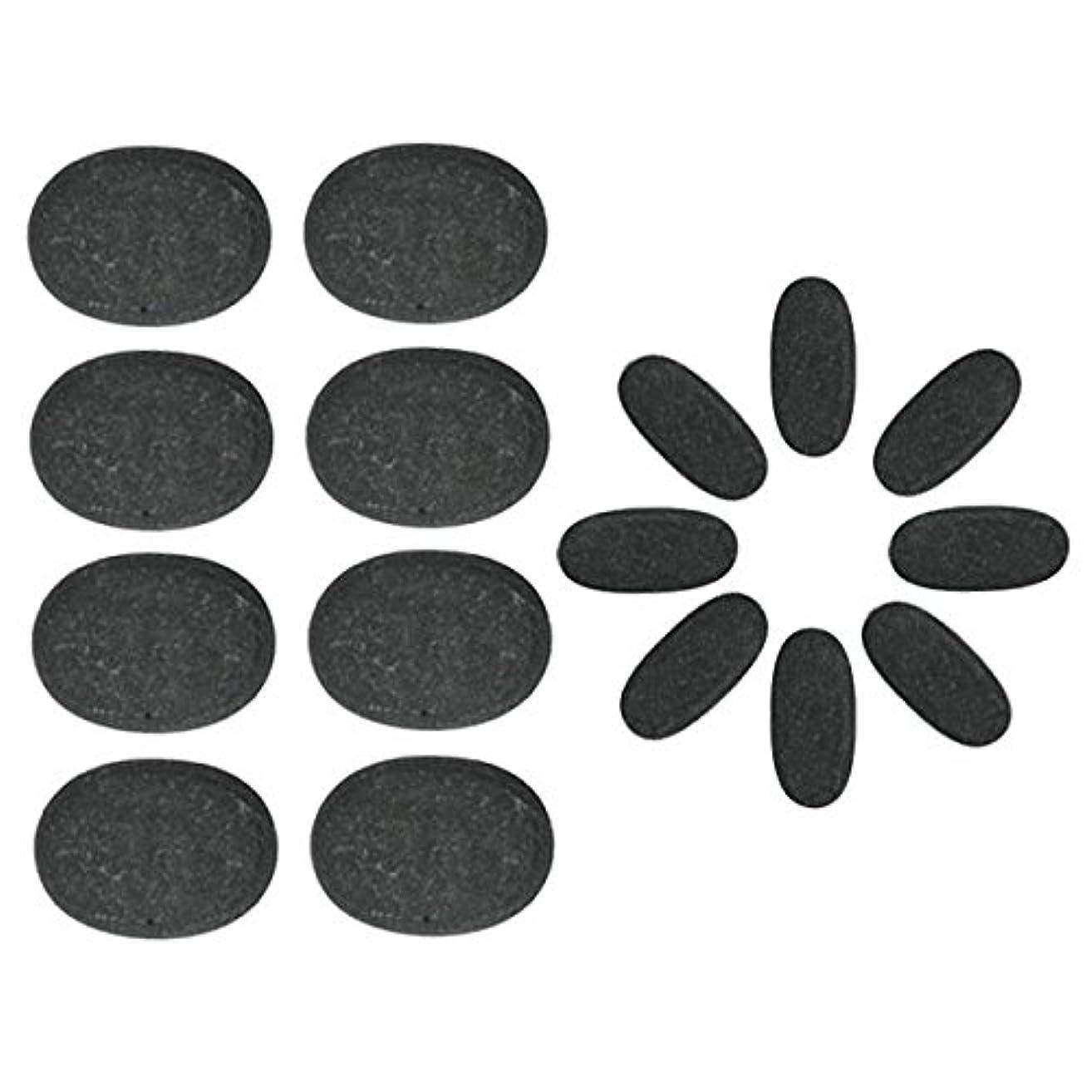 マサッチョ新鮮なセンチメートル玄武岩 ホットストーン 16個セット [ ホットストーン ホット ストーン ストーンヒーター ホットストーンセラピー セラピー 玄武岩 天然石 スパ ロミロミ ハワイ ハワイアン マッサージ ]