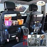 車用シートバックポケットVITCOCO 車用収納ポケット レザー素材パレット、防汚 車の収納ボックス、カップホルダー、雑誌のストレージ、多機能車用シートバックポケット車の収納袋 …