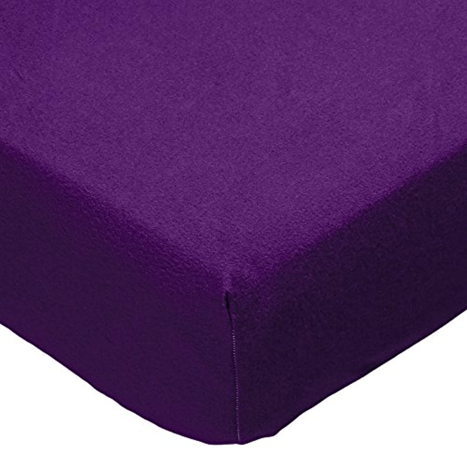 SheetWorld PC-FS12 PC-FS12 Fitted Portable / Mini Crib Sheet - Flannel - Purple - Made In USA by sheetworld