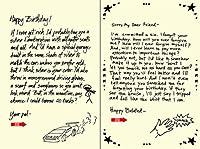 Quiplip Handwritten Yours 真のバースデーカード 6枚パック (YT06076PCK)