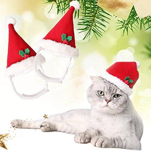 トトハウス(TOTO HOUSE)ペット 犬 猫 用 クリスマス 帽子 かわいい お祝い アクセサリー サンタ帽 犬