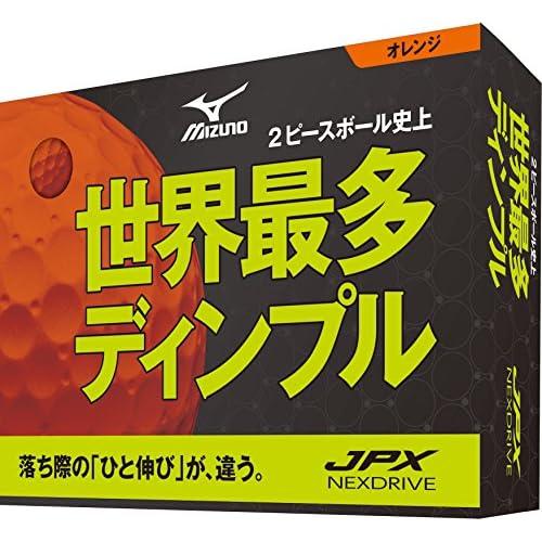 MIZUNO(ミズノ) ゴルフボール JPX ネクスドライブ ユニ 5NJBM72540 オレンジ 1ダース