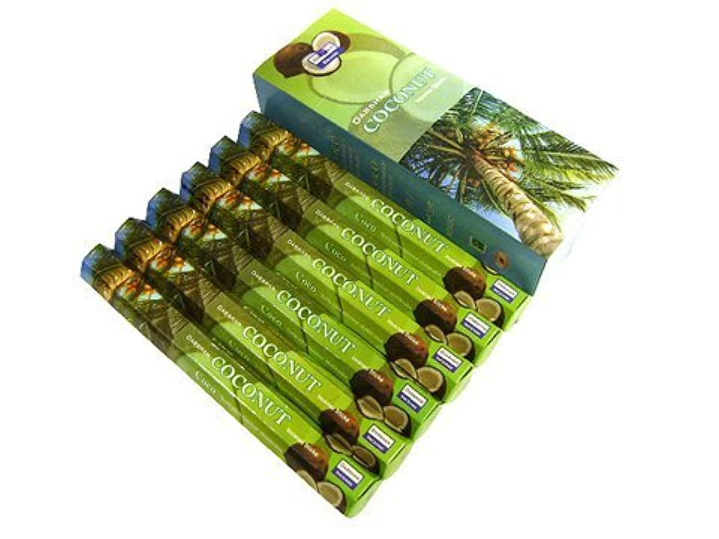 シティ定数治安判事Coconut – 120 Sticksボックス – Darshan Incense