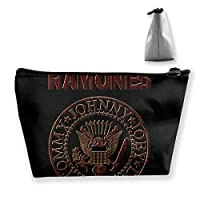 Ramones 収納バッグ PC周辺小物整理 ラベルポーチ 出張 旅行などお出かけ用 台形収納バッグ 収納袋 小物入れ 軽量 防水 大容量 多機能ポーチ 化粧品ポーチ
