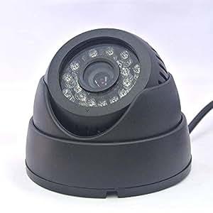 ドーム型 ビデオカメラ 夜間撮影 PC不要 microSD録画 ワンタッチ