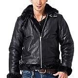 B-3フライトジャケット メンズ ボマージャケット レザージャケット 革ジャン ライダースジャケット