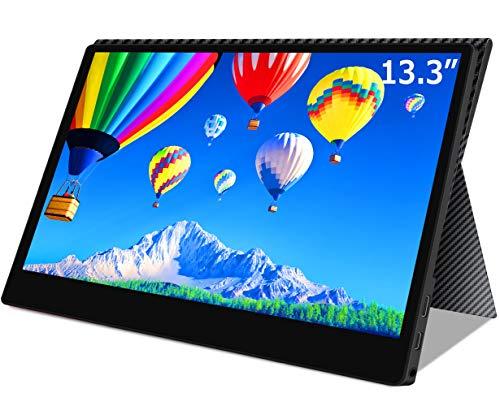 cocopar2019最新モバイルモニターニンテンドースイッチ用モニター 1080P USB Type-C / PS4 XBOXゲームモニタ/HDMIモバイルディスプレイ(厚さ4mm 保護ケース付) (13.3インチ)