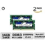 TT-Timetec Hynix IC 16GB(2x8GB)ノートPC用メモリ DDR3 1600 MHz PC3 12800 1.35v 204 Pin SODIMM Laptop memory upgrade 永久保証 (16GB(2x8GB))
