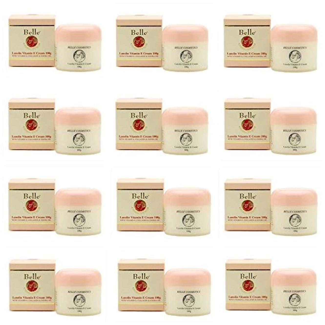 細菌最小化する賢明な[Belle Cosmetics]ベルコスメティック ラノリンビタミンEクリーム100gx12個【海外直送】