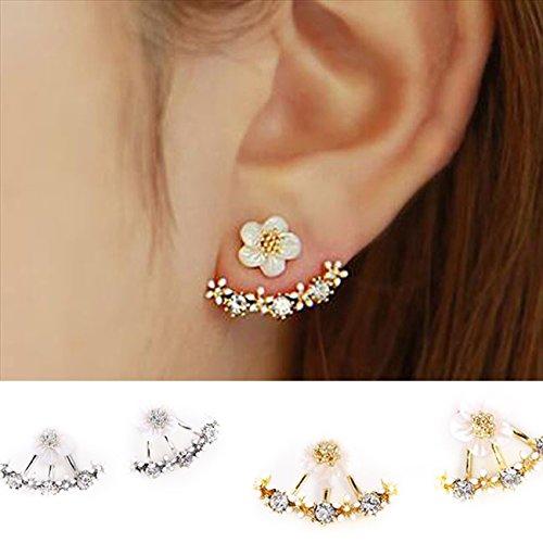 [해외][Petit Celeb] 피어스 귀여운 캐치 보석 패션 플라워 사쿠라 벚꽃 꽃 귀여운/[Petit Celeb] Earrings Women`s cute catch jewelry Fashionable flowers Sakura cherry flower cute
