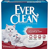 EVERCLEAN 261285 Extra Strength Multicat Litter, 25-Pound by Ever Clean