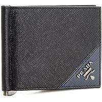 PRADA(プラダ) 財布 メンズ SAF.METAL 2つ折り財布 NERO+BALTICO 2MN077-QME-G52 [並行輸入品]