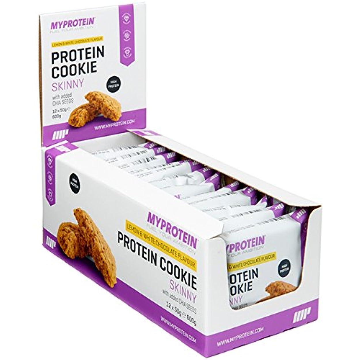 湿った歴史的太字マイプロテイン スキニークッキー?ダイエットクッキー (クランベリー & ホワイトチョコレート, 50gx12)
