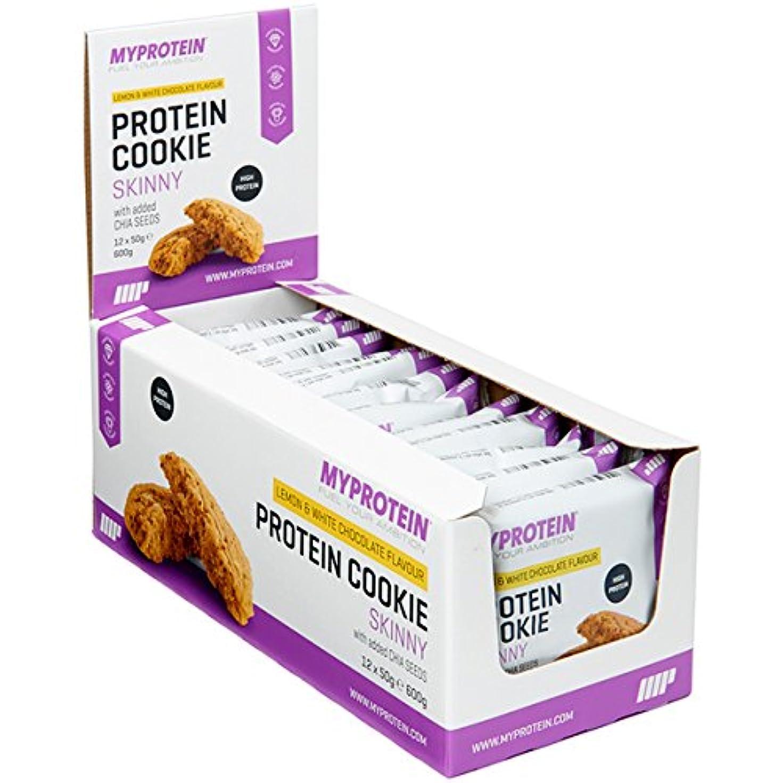 発信残基神話マイプロテイン スキニークッキー?ダイエットクッキー (クランベリー & ホワイトチョコレート, 50gx12)