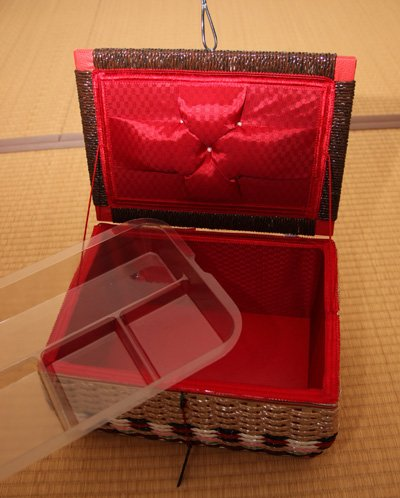 ソーイングバスケット(ソーイングセット付き)[手作り人気のアンティーク裁縫箱(お裁縫箱ソーイングボックス針箱)]