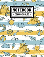 College Ruled Notebook: Beach College Ruled Notebook | 109 Pages | 8.5x11