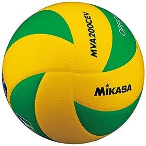 ミカサ バレーボール5号欧州連盟試合球 黄/緑 MVA200EV
