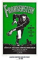 ロストポスター レアポスター ボリス・カルロフ・フランケンシュタイン 映画 1931年 ジークレー・レプリント #'d/100!! 12×18