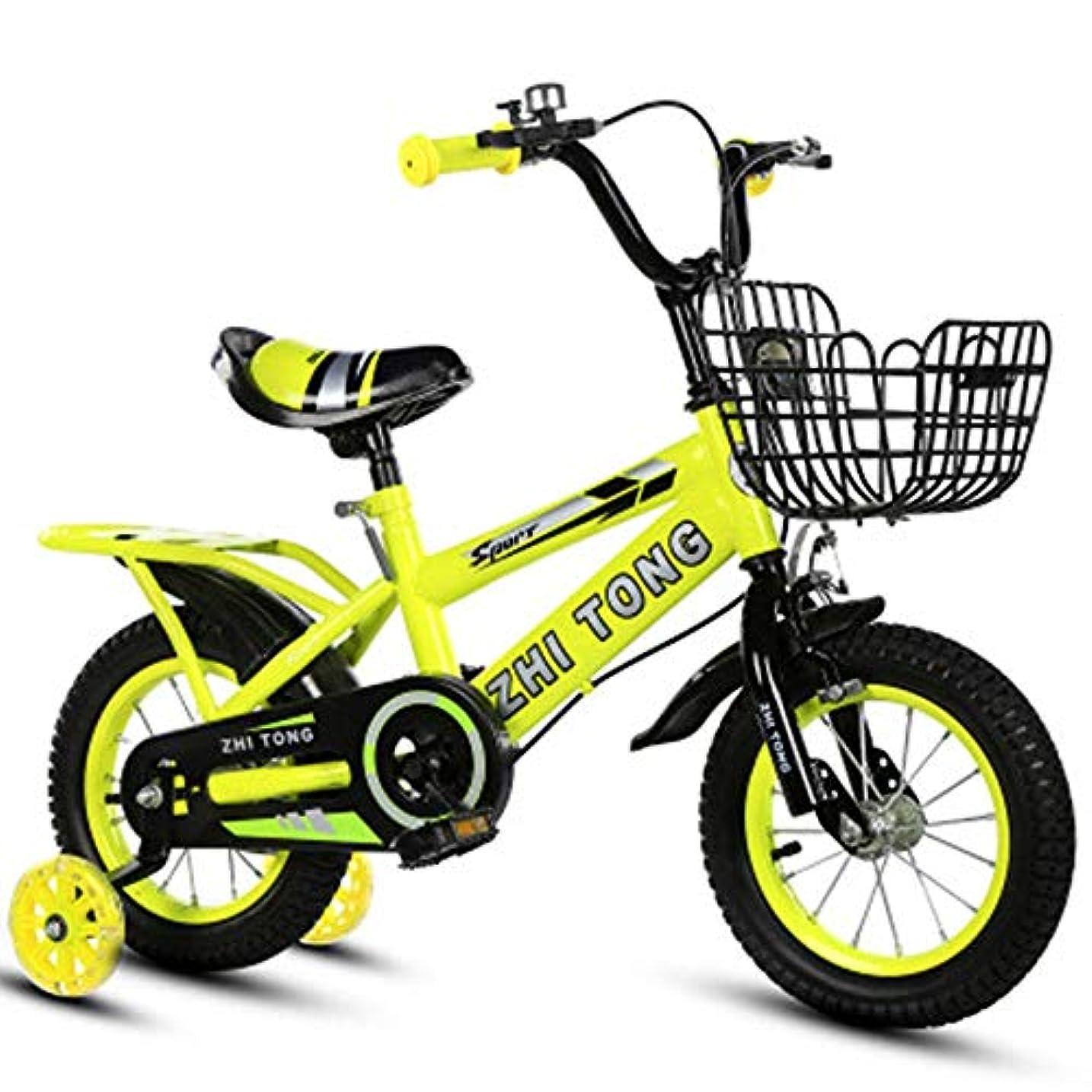 疑い者使用法病子供用自転車、12インチ、14インチ、16インチ、18インチ、男の子と女の子用のバックシートフラッシュ補助ホイールで調整可能2?9歳の誕生日プレゼント