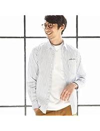 コーエン(メンズ)(coen) リバーストライプレギュラーカラーシャツ