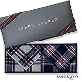 ラルフローレン 【RALPH LAUREN】タオルハンカチ2枚セットwithギフトボックス カラーを選択,55・トールマッジヒルプラッド