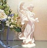 セラフィム Bereavement メモリアルエンジェル 一輪の薔薇を手にする天使置物