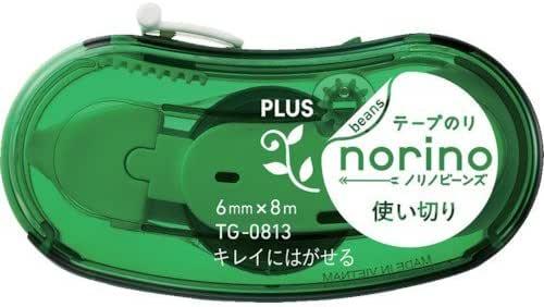 プラス ノリノビーンズ キレイにはがせるグリーン (39079) 39079 テープのり