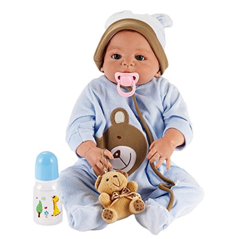 hoomai人形22インチLifelikeフルSiliconeビニールRebornベビー人形Realistic Lovely新生児人形Look Real Girl Boy Toy
