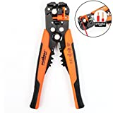 "HORUSDY Self-adjusting Wire Strippers, 8"" Automatic Wire Stripping Tool/Cutting Pliers Tool for Wire Stripping, Cutting, Crimping 10-24 AWG (0.2~6.0mm²) - Best Unique Tool Gift for Men"