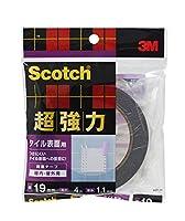 スリーエム スコッチ 超強力両面テープ タイル表面用 19mmX4m SST-19
