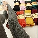 レディース ニット KLUMA タイツ レディース レギンス 美脚 サポートタイツ 無地 ニット 可愛い 暖かい 学生 秋冬 女の子 パンツ ハイソックス 全14カラー