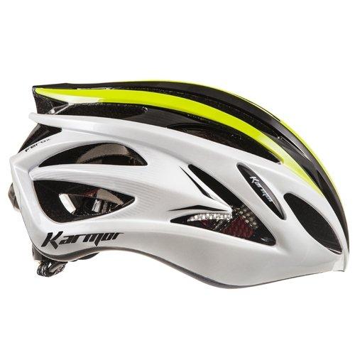 KARMOR(カーマー) FEROX JCF公認 サイクリングヘルメット L ホワイト/ブラック+ライム