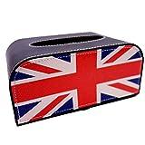 小型 コンパクト ティシュ ボックス BOX ケース / BMW ミニ クーパー車 載 CAR カー 【選べる3色】 ユニオンジャック ブラックジャック チェッカー 英 国旗  白黒 イギリス  国旗 (ユニオンジャック)