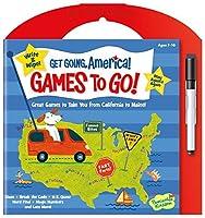 [ピーサブルキングダム]Peaceable Kingdom Get Going, America Write and Wipe Games To Go! Activity Book GG104 [並行輸入品]