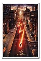 The Flash One Sheet Movieポスター磁気掲示板シルバー額入り - 96.5 x 66 cm(約38 x 26インチ)