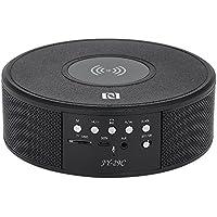 Docooler JY-29CポータブルBluetoothスピーカーQiワイヤレス充電器ステレオ高音質サウンドタイムディスプレイヤーTF卡/AUX IN播放/FM/NFC マイク内蔵