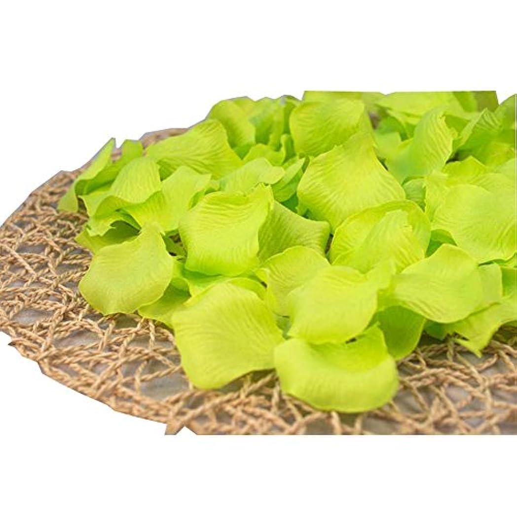 フェード励起呼び出す結婚式のための緑人工花びらの緑840個