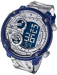 無極限シリーズ腕時計アウトドア防水時計(ヤングス) PX1602112P (グレーとブルー)
