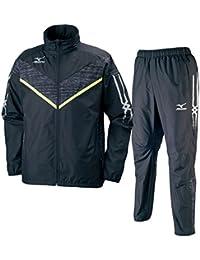 ミズノ(MIZUNO) ウィンドブレーカーシャツ&パンツ 上下セット(ブラックセーフティイエロー/ブラック) U2ME7505-94-U2MF7505-09 ブラックSイエロー/ブラック M