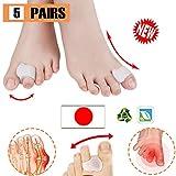Pnrskter 外反母趾サポーター親指矯正グッズ 厚型ジェルパッド 足指を広げる痛み改善 快適歩行 10個入