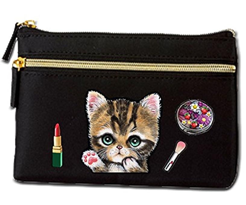 クリープヘビー記念碑的な猫 ポーチ / ネコ11/雑貨/グッズ/オリジナル