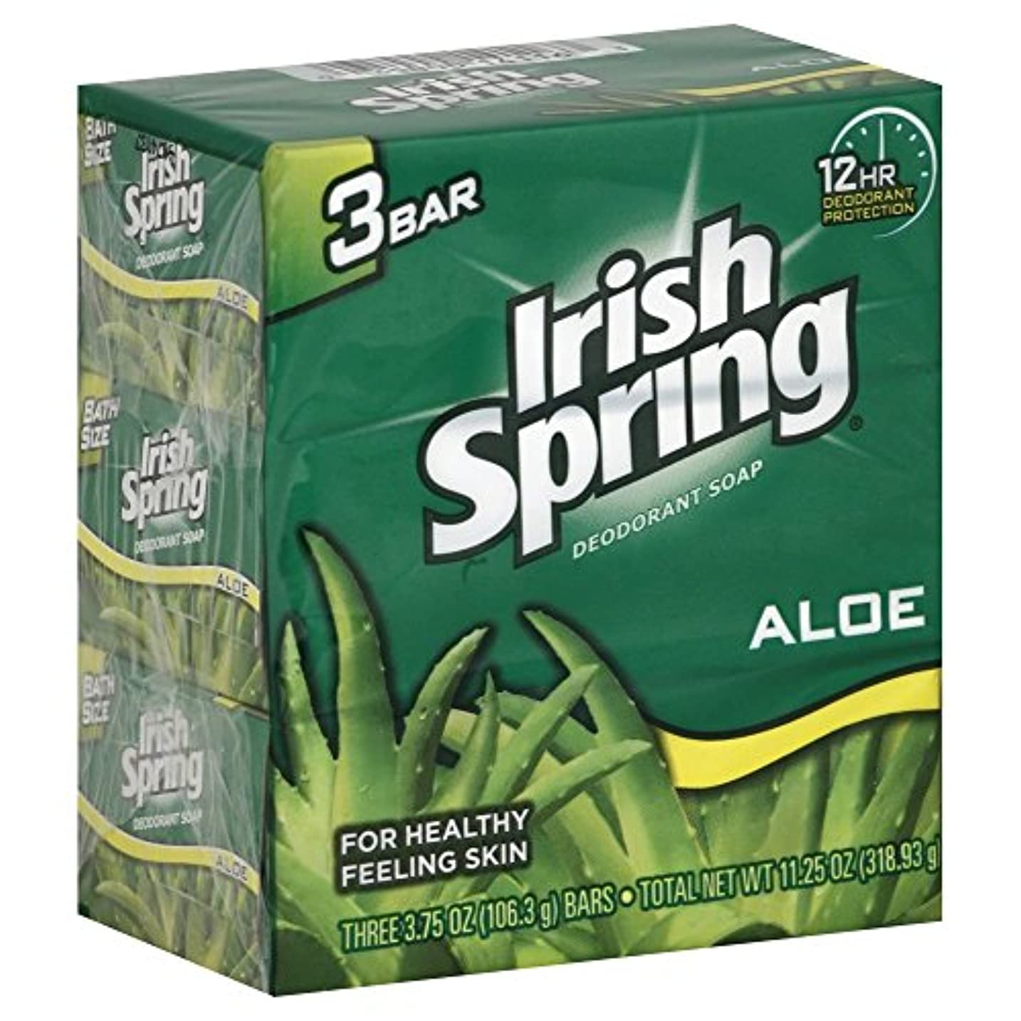 申し立て突然の警察署Irish spring アイリッシュスプリング バーソープ アロエ 3個