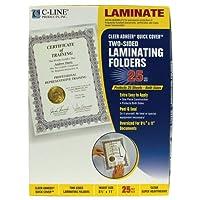 Quick Cover Laminating Folders, 12 mil, 9 1/8 x 11 1/2, 25/Pack (並行輸入品)