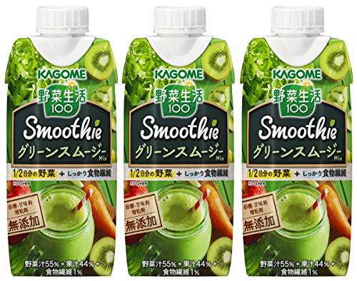 カゴメ 野菜生活100 グリーンスムージーミックス 330ml 1箱(12本)