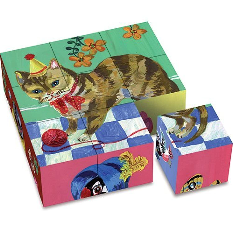 Vilac Set of 9 Cardboard Blocks by Vilac [並行輸入品]