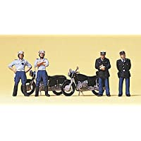 Preiser 10191 French Police ( 4 ) with 2 Motorcycles